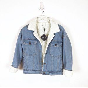 Zaful | light color fleece lined denim jacket